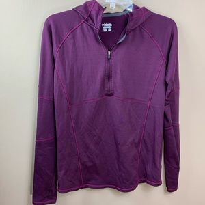 Columbia athletic top women's small purple